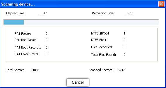 search lost files